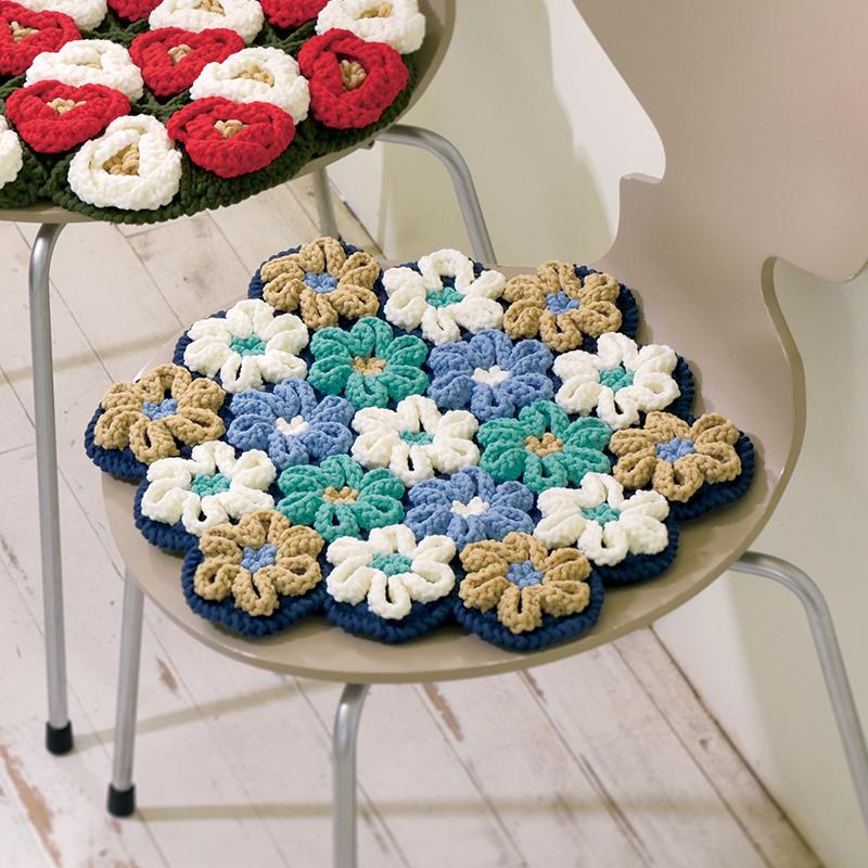 レシピ 立体花モチーフの円座: レシピ | 手づくりタウン 日本ヴォーグ社